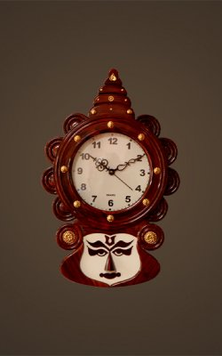 Kathakali head clock